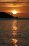 härlig soluppgång Arkivfoton