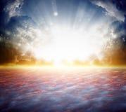 Härlig soluppgång Arkivbilder