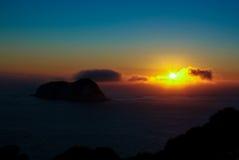 Härlig soluppgång Arkivfoto