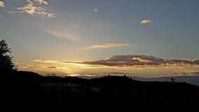 Härlig soluppgång blåste solnedgång för himmelmolnmorgon Royaltyfria Foton