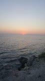 härlig soluppgång för strand Arkivfoto