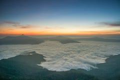 Härlig soluppgång i Chiang Rai Thailand royaltyfri foto