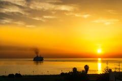 Härlig soluppgång i Palermo, Italien royaltyfri bild