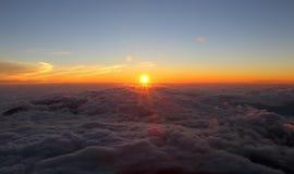 Härlig soluppgång, Mount Fuji Japan Arkivbilder