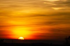 Härlig soluppgång och stort Arkivbilder