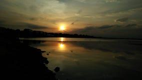 Härlig soluppgång sköt denna är Godavari Arkivfoto