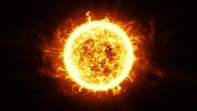 Härlig solyttersida och solfacklor HD 1080 Kretsad animering lager videofilmer