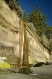 härlig sommar för sjösida för klippadagliggande Arkivbilder