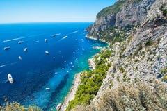Härlig sommardag i den Capri ön, Italien royaltyfria bilder