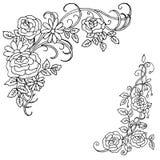 Härlig sommarmodell av blommor Garnering från rosor på a arkivfoto