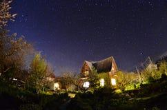 Härlig sommarnatt i Krim Royaltyfri Fotografi