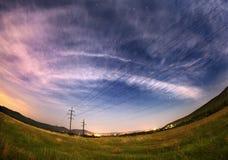 Härlig sommarnatt i Krim Fotografering för Bildbyråer
