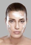 Härlig Spa flicka. Skincare begrepp Royaltyfri Fotografi