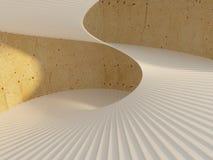 härlig spiral trappuppgång Arkivfoton