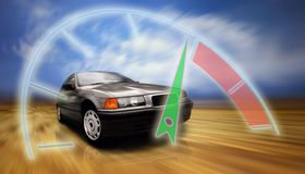 härlig sportcar väghastighet Royaltyfria Bilder