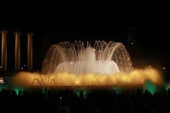 Härlig springbrunn i Barcelona Royaltyfria Bilder