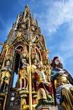 Härlig springbrunn i Nuremberg, Tyskland royaltyfri fotografi