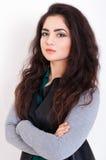 Härlig stående för ung kvinna Royaltyfri Foto