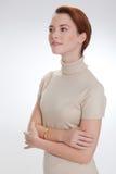 härlig ståendekvinna Arkivbild