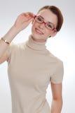 härlig ståendekvinna Fotografering för Bildbyråer