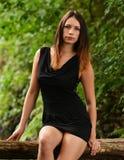 härlig ståendekvinna Royaltyfria Bilder