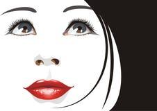 härlig ståendekvinna stock illustrationer