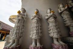 Härlig stöpningskonst i tempel för San PA Yang Luang royaltyfri foto