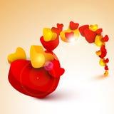 Härlig St.-valentin bakgrund för dag, gåva eller hälsningskort Royaltyfri Foto