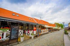 Härlig stad av Simrishamn, Sverige arkivfoto