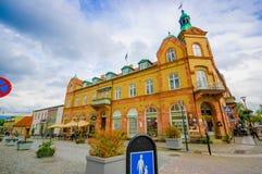Härlig stad av Simrishamn, Sverige royaltyfri bild