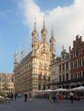_ Härlig stad Leuven Arkivfoton