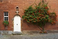 _ Härlig stad Mechelen Arkivfoto