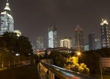 Härlig stad Shanghai på natten Royaltyfri Fotografi