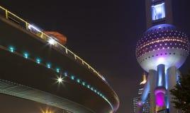 Härlig stad Shanghai på natten Royaltyfria Bilder