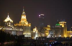 Härlig stad Shanghai på natten Royaltyfria Foton