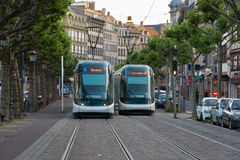 Härlig stad Strasbourg i Alsace i Frankrike Royaltyfria Bilder