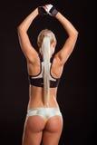 Härlig stark idrottskvinna Royaltyfri Bild
