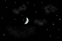 härlig starry nattsky Arkivbild