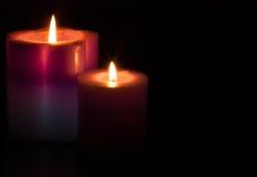 Härlig stearinljus för jul royaltyfri fotografi