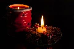 Härlig stearinljus för jul royaltyfria foton