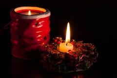 Härlig stearinljus för jul royaltyfri bild