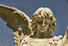 Härlig sten Angel Face Royaltyfri Fotografi