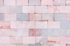 Härlig stentextur Vägg som göras av marmortegelplattor tom bakgrund Fotografering för Bildbyråer