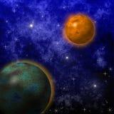 Härlig stjärnahimmel, utrymmegalax stock illustrationer