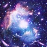 Härlig stjärnautrymmenebulosa Fotografering för Bildbyråer
