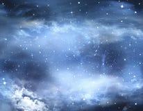Härlig stjärnklar himmel Fotografering för Bildbyråer
