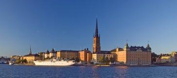 härlig stockholm sikt Arkivbild
