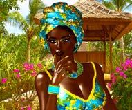 Härlig stolt afrikansk kvinna Arkivfoto