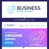 Härlig stor affärsidémärkesnamn, diagram, data, värld, I royaltyfri illustrationer