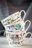 Härlig stor kopp för moders dag och mars 8 Royaltyfri Bild